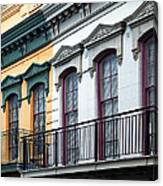 French Quarter Balconies Canvas Print