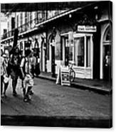 French Quarter Commute Canvas Print