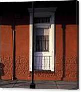 French Quarter Door And Shadows New Orleans Canvas Print