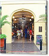 French Quarter French Market Entrance New Orleans Film Grain Digital Art Canvas Print