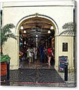 French Quarter French Market Entrance New Orleans Poster Edges Digital Art Canvas Print