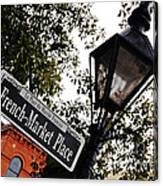 French Quarter French Market Street Sign New Orleans  Canvas Print