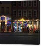French Quarter Shopping At Night Canvas Print
