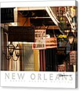 French Quarter Signs Canvas Print