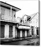 French Quarter Tavern Architecture New Orleans Conte Crayon Digital Art Canvas Print
