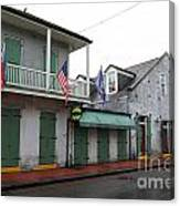 French Quarter Tavern Architecture New Orleans Canvas Print