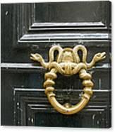 French Snake Doorknocker Canvas Print