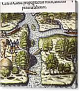 French: Sth. Carolina, 1562 Canvas Print