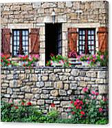 French Stone House Canvas Print