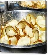 Fresh Potato Chips Canvas Print