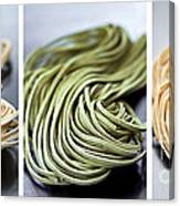 Fresh Tagliolini Pasta Canvas Print