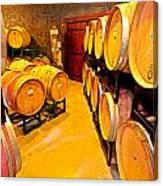 Fresh Tracks Barrel Room Canvas Print