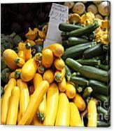 Fresh Zucchinis And Artichokes - 5d17817 Canvas Print