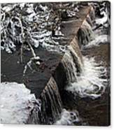 Frigid Falls Canvas Print