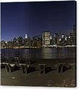 From Gantry At Night Canvas Print