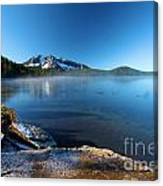 Frost On The Shore Canvas Print