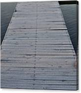 Frosted Dock Canvas Print