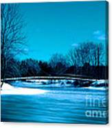 Frozen Bridge Canvas Print