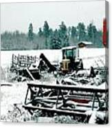 Frozen Field Canvas Print