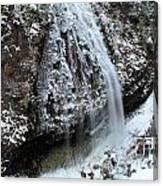 Frozen Narada Falls Canvas Print