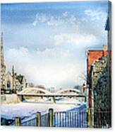 Frozen Shadows On The Grand Canvas Print