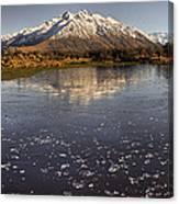 Frozen Tarn Seen From Mt Sunday Canvas Print