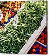 Fruit And Vegetable Stand Canvas Print