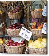 Fruit For Sale Canvas Print