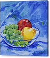 Fruit On Blue Canvas Print