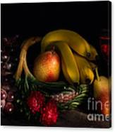 Fruit Still Life With Wine Canvas Print
