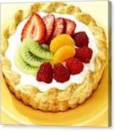 Fruit Tart Canvas Print