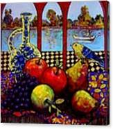 Fruits And River Canvas Print