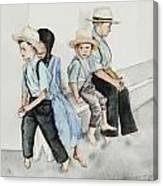 Frytown Auction Canvas Print