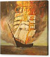 Fuego Al Mar Canvas Print