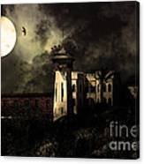 Full Moon Over Hard Time - San Quentin California State Prison - 7d18546 - Partial Sepia Canvas Print