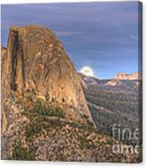 Full Moon Rise Behind Half Dome 2 Canvas Print