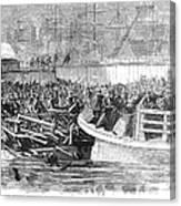 Fulton Ferry Boat, 1868 Canvas Print
