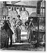 Fulton Fish Market, 1870 Canvas Print