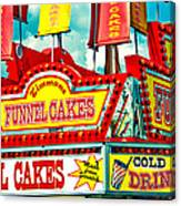 Funnel Cakes Carnival Food Vendor Canvas Print