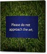 Funny Sign Canvas Print