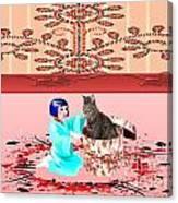 Furry Surprise Canvas Print
