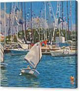 Future Yacht Racers Canvas Print