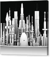 Futuristic Cityscape, Artwork Canvas Print
