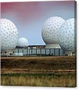 Fylingdales Long-range Radar Station, Uk Canvas Print