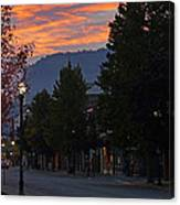 G Street Sunrise In Our Town Canvas Print