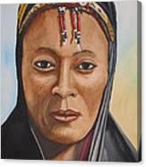 Gabbra Woman In Black  Canvas Print