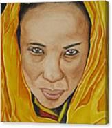 Gabbra Woman In Yellow Canvas Print