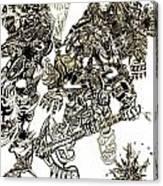 Galactic Warriors Canvas Print