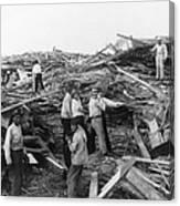 Galveston Disaster - C 1900 Canvas Print