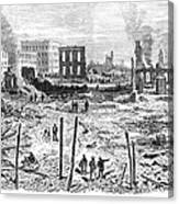 Galveston: Fire, 1877 Canvas Print